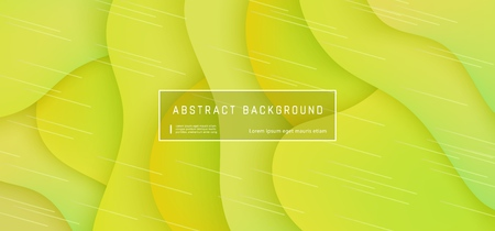 Vector abstract background with expressive yellow wave motion flow. Modern style presentation template, commercial poster layout, dynamic creative advertisement banner wallpaper with space for text Reklamní fotografie - 114105573