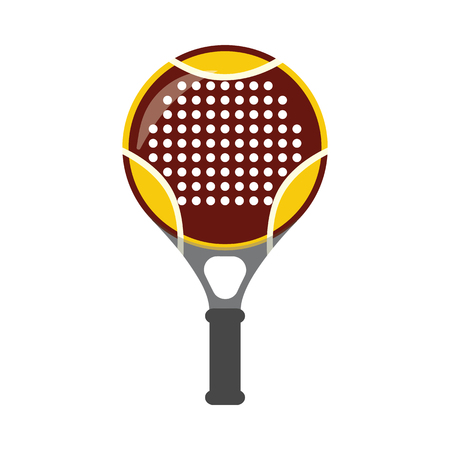 Vector tennis, squash racquet icon. Table game equipment. Professional sport, classic racket for official competitions and tournaments. Isolated illustration Illustration