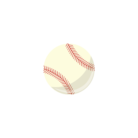Vector baseball ball simple icon. Sport equipment, sphere game play element. Professional baseball championship element. Athletic lifestyle symbol. Isolated illustration