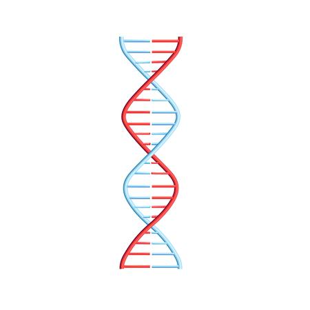 Molécula de ADN vectorial, estructura con cromosomas. Espiral de hélice con código genético. Concepto de estudios de biología molecular e ingeniería genética. Biotecnología y ciencia genética, elemento de diseño educativo.