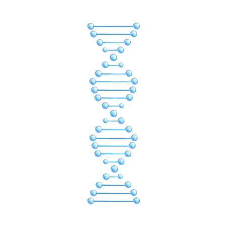 Vector DNA molecule, structure with chromosomes. Helix spiral with genetic code. Molecular biology andgenetic engineering studies concept. Biotechnology and genes science, education design element