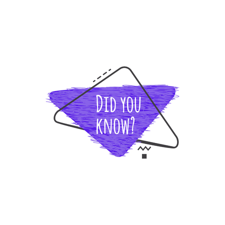 Did you know - upside down triangle badge icon with question suggesting fun fact or new information for learning or advertising. Modern style banner isolated on white background - vector illustration Illustration