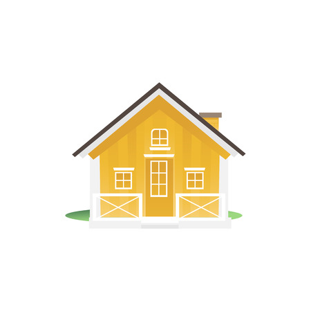 Moving house icon as an symbol of the real estate market sales flat vector illustration isolated on white background. Home relocation packaging and transfer concept.