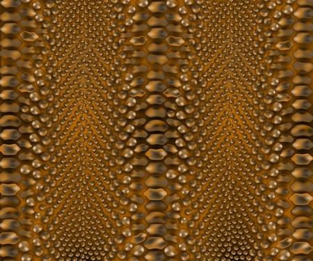 Vector serpiente, fondo de textura de piel de reptil cocodrilo. Piel animal marrón, superficie con textura de cocodrilo para diseño de moda de tela. Material de tela natural para decoración.