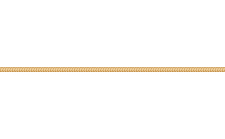 Straight thin cordage marine rope or twisted cord elongated in line vector illustration isolated on white background. Nautical cable element for borders and frames.