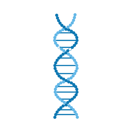 DNA molecules helical structure or spiral chromosome strand vector illustration isolated on white background. Genetic technology icon for scientific or medical banner.
