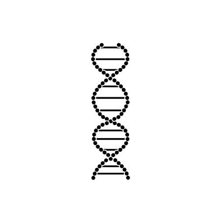 Signo plano e icono de ADN, símbolo de la medicina, la biología y la genética. Ilustración de vector aislado de ADN.
