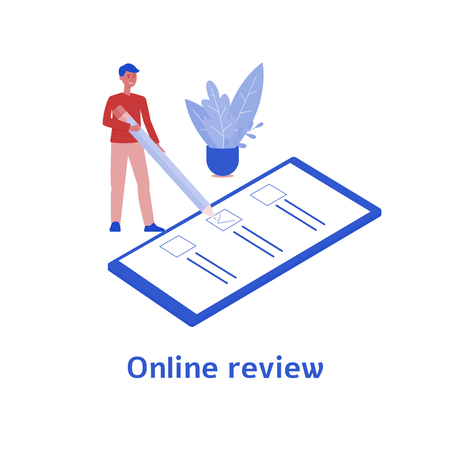 Online Review - Person Giving Feedback On Business Using