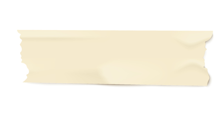 Piece of light yellow adhesive masking tape with realistic duct paper texture, isolated line strip with torn edges and wrinkles, used office stationery vector illustration on white background Stock fotó - 128170738