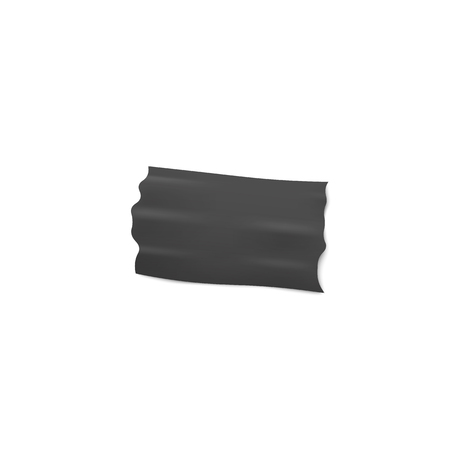 Adhesive or insulation wide black tape torn piece glued on a surface 3d realistic vector illustration isolated on white background.