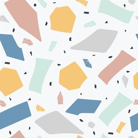 Terrazzo floor marble seamless handcrafted pattern the abstract