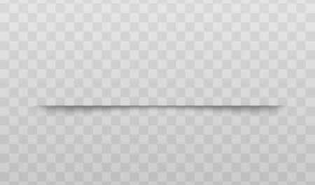 Effet d'ombre de division de la page de papier l'illustration vectorielle réaliste isolée sur fond transparent. Élément pour la conception de messages publicitaires et promotionnels. Vecteurs