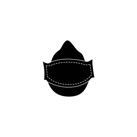 Respirator mask for air pollution protection, safety equipment with air filter for dangerous industrial work with chemical and gas objects, flat isolated vector illustration on white background