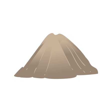 Vector abstract mountain rock icon. Natural terrain element for graphic design. Landscape decoration object, symbol of climbing, extreme sports and adventure. Isolated illustration Illustration