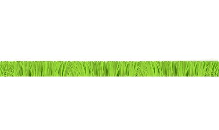 Vector green grass cut horizontal border for summer landscape design. Natural decoration element for parks, gardens or rural fields scenery. Lawn or plants object. Isolated illustration  イラスト・ベクター素材