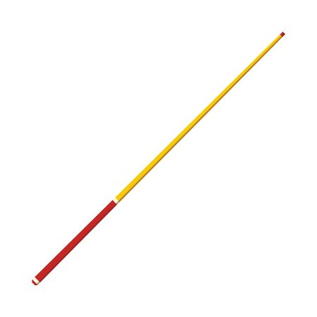 Vector snooker or pool cue stick icon. Billiard game equipment for official tournaments, competitions. Ball game tool for entertainment activities. Isolated illustration Stock fotó - 127276921