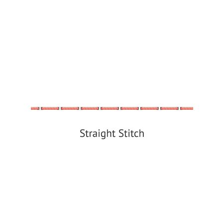 Seamless straight sewing machine or hand basic stitch brush vector illustration isolated on white background. Endless ornament for border, page decoration and divider.