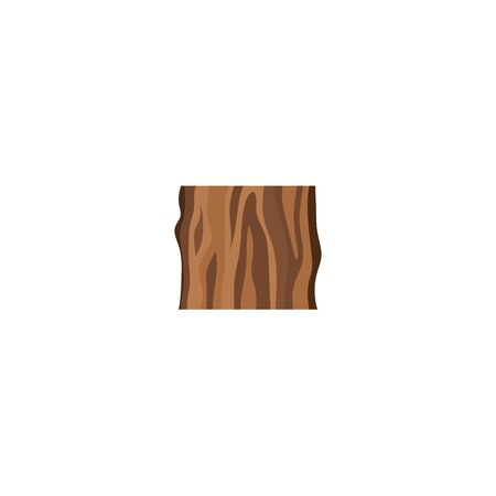Cut of tree trunk or sample wood icon flat vector illustration isolated on white background. Design of wooden log element for forestry and lumber industry projects.