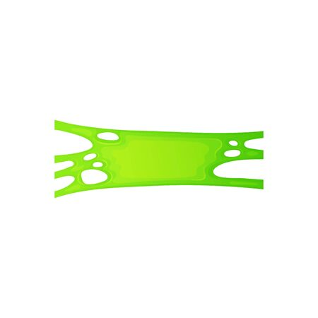 Acid green slime splatter stretch with smooth realistic bubble gum texture, thick mucus jelly substance stretching in gooey mass - isolated cartoon vector illustration on white background Reklamní fotografie - 129267303