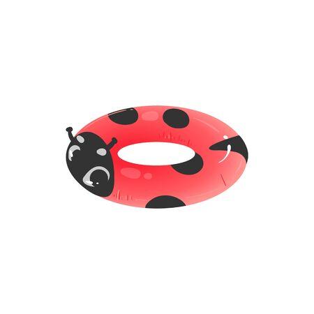 Ladybug shaped inflatable swimming ring cartoon
