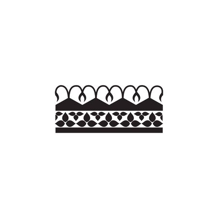 Medieval fantasy royal crown black graphic icon vector illustration isolated on white background. Old ornate king or queen imperial heraldic nobility insignia symbol. Foto de archivo - 131320438