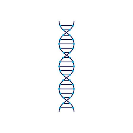 DNA molecular structure sign or symbol flat