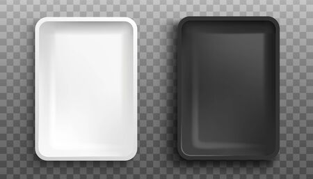 Mockup of plastic food container
