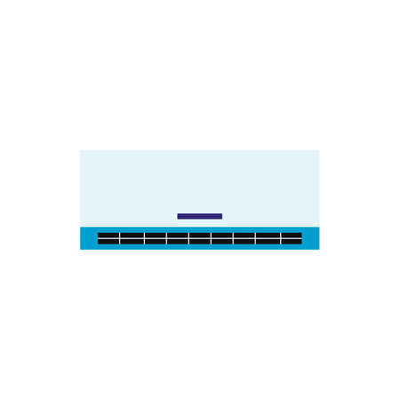 Air conditioner or climate control system panel, flat cartoon vector illustration isolated on white background. Иллюстрация