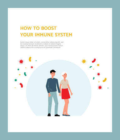 Immune system poster - health protection from disease and bacteria