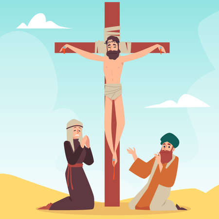 Christian bible story about crucifixion of jesus christ at calvary