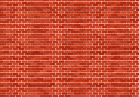 Texture of the red brick wall photo