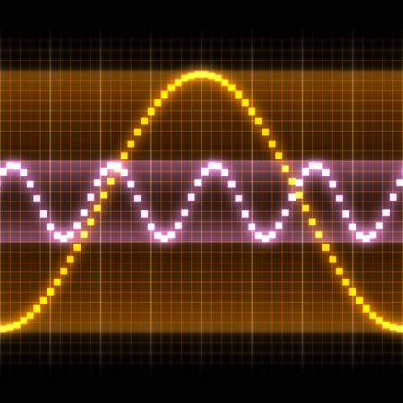 Graphic of a digital sound. Can be used as background Stock Photo