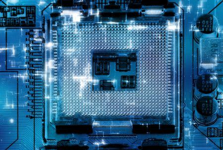 communicatie: Close-up studio-opname van de moderne computer-aansluiting. Stockfoto