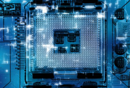 Close-up studio shot of the modern computer socket.