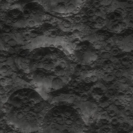 High quality computer generated seamless texture of moon surface photo