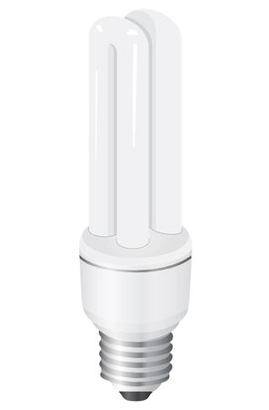 Illustration of modern energy saving light bulb