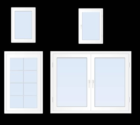 Illustration of modern white plastic windows