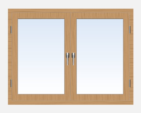 wooden window: Window Illustration