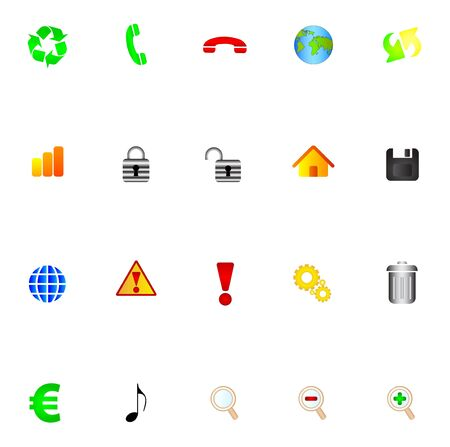 Icons Stock Vector - 7234209