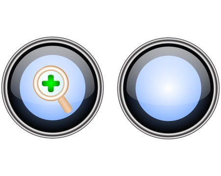 Glass button Illustration
