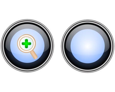 Glass button Stock Vector - 7248343