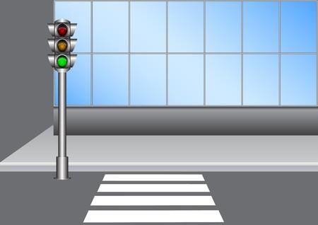 senda peatonal: Sem�foro  Vectores