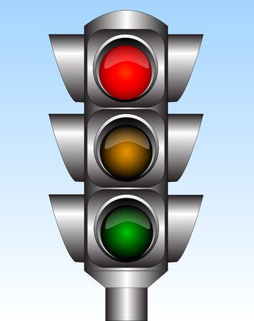 Traffic light Stock Vector - 7348549