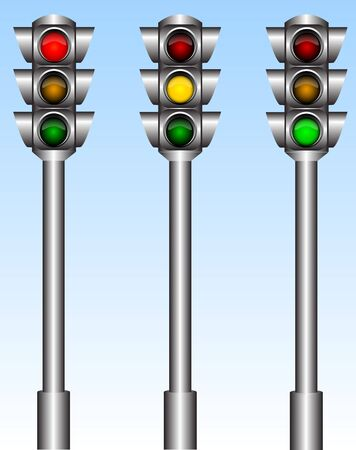 Traffic lights Stock Vector - 7348547