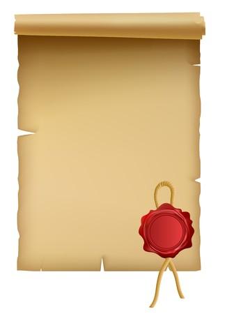 Parchment Stock Vector - 7435308