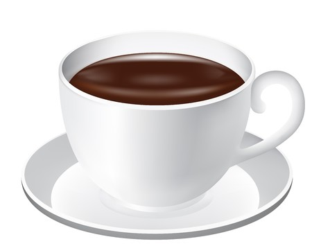 cup and saucer: Cup of chocolate Illustration