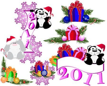 New year set Illustration
