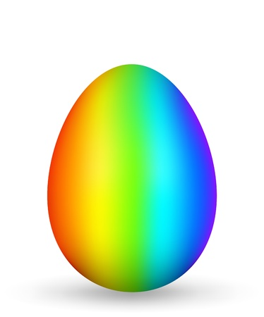 egg shaped: Colored egg