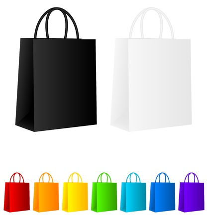 white paper bag: Shopping bags