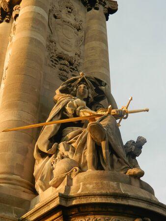 iii: Statue at Alexander III Pont in Paris